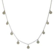 Gargantilla chapas de piedra luna en plata 925 (1)