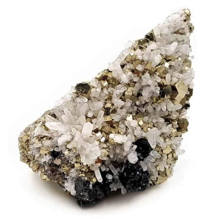 Minerales, caprichos de la naturaleza con formas pulidas, talladas y cristales sin pulir