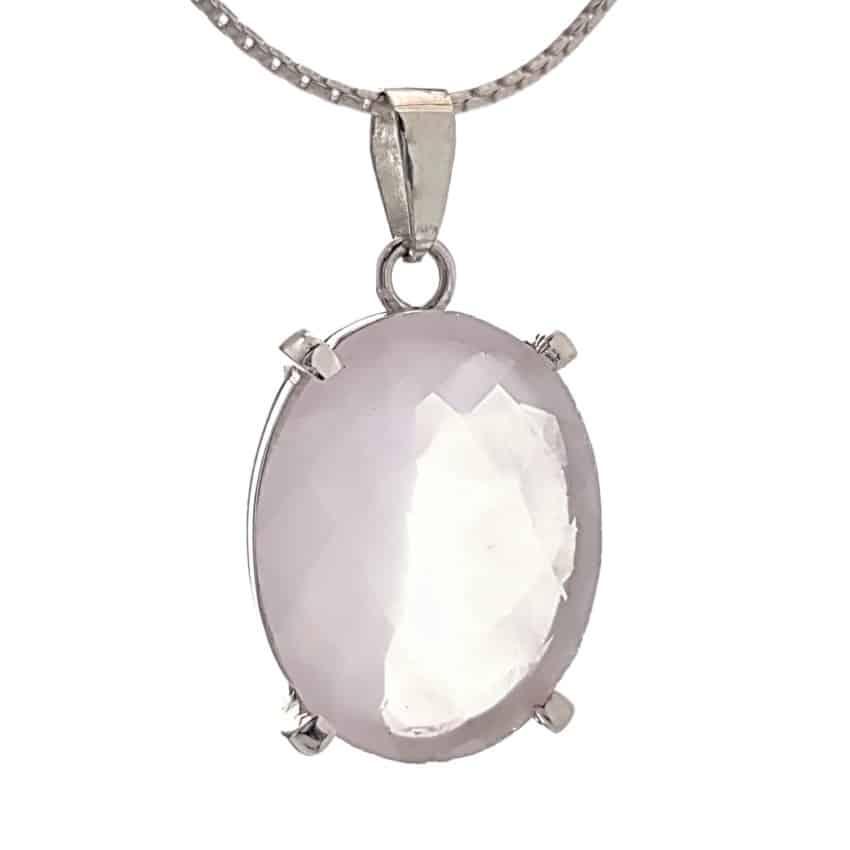 Colgante cuarzo rosa oval tallado (2)