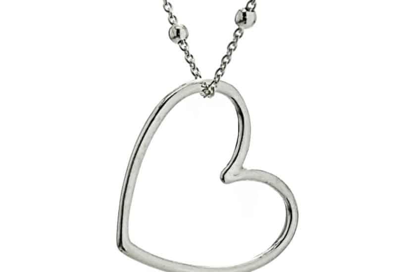 Gargantilla corazón de plata