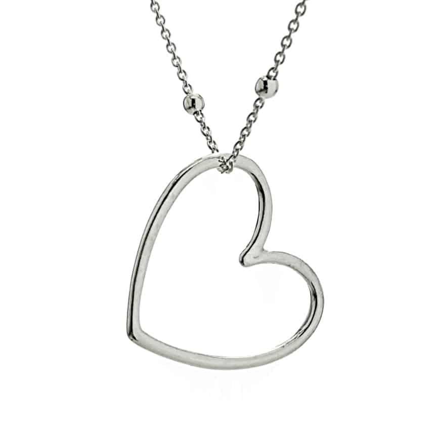 Gargantilla corazón de plata (2)