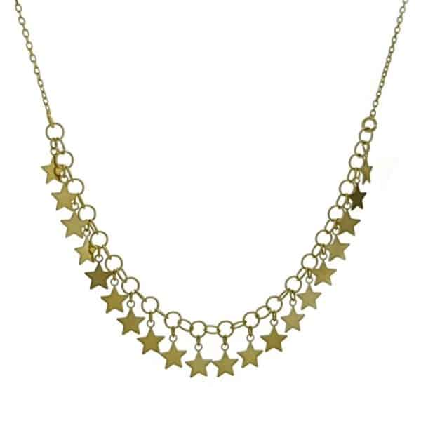 gargantilla de plata 925 de estrellas chapadas en oro (1)