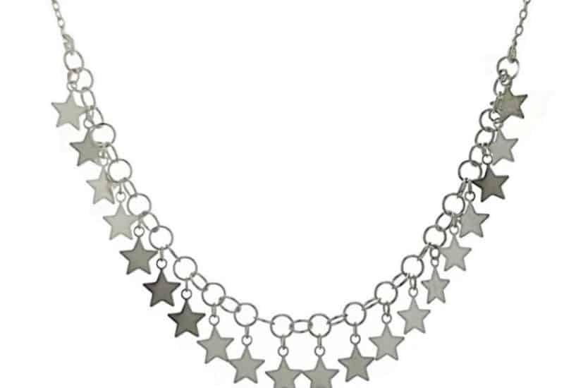 Gargantilla estrellas en plata 925