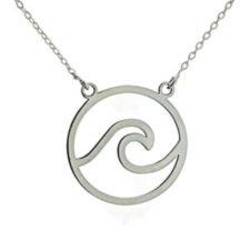 gargantilla ola de plata + cadena 45 cms (6)