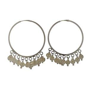 Aros con perlas en plata