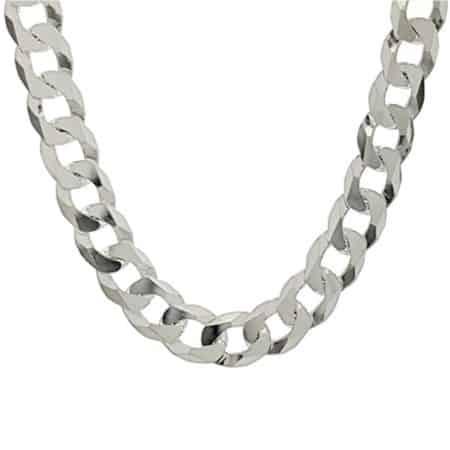 Cadena Barbada ancha especial para hombres en plata 925 (1)