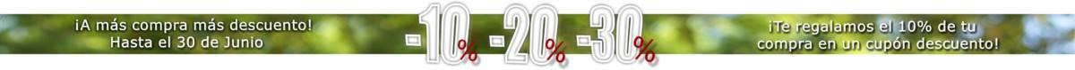 ¡A más compra más descuento! -10%, -20% y -30% en miles de joyas y minerales. Y además te regalamos el 10% del total de tu compra en un cupón descuento para gastar en los próximos dos meses. Infórmate
