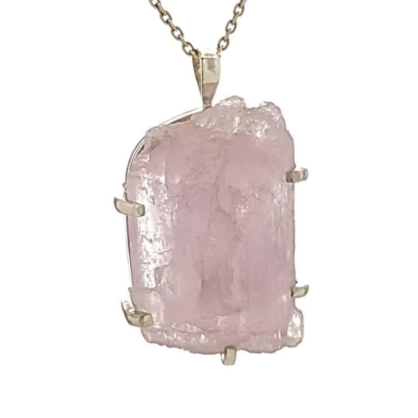 Colgante cristal de kuncita en plata (2)