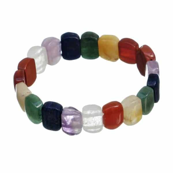 Pulsera elástica piedras de los 7 chakras (3)