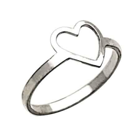 Anillo mini corazón de plata 925
