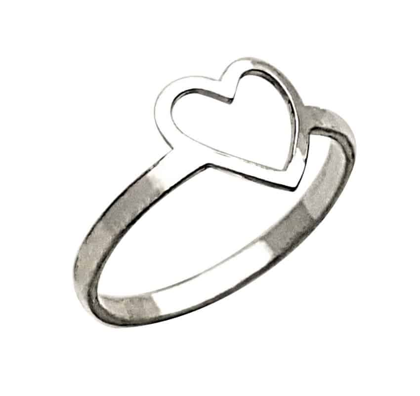 Anillo corazón de plata (2)