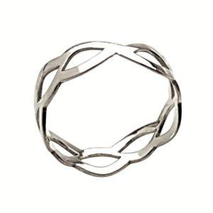 Anillo diseño en trenza de plata 925