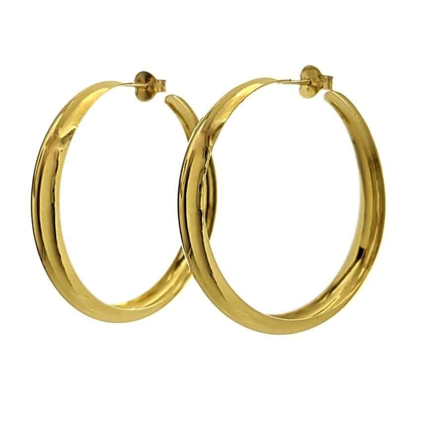 Aros chapados en oro de 42 milímetros (6)