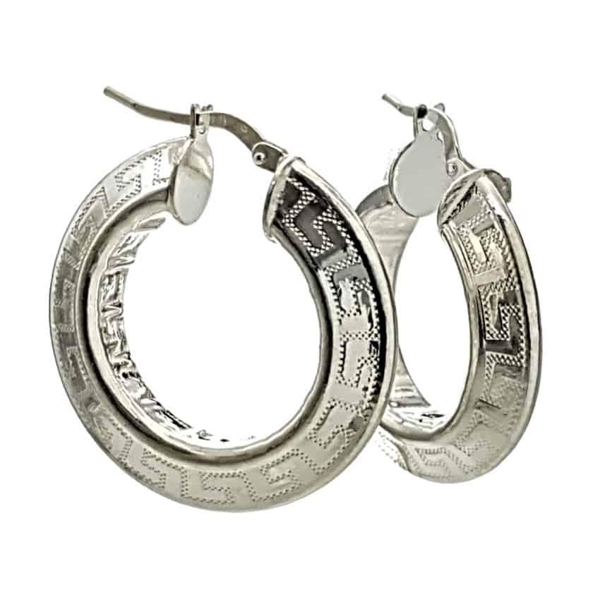 Aros diseño greca plata 925 (1)