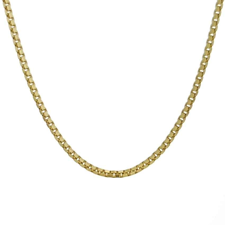 Cadena Veneciana fina color oro de 45 cms (4)