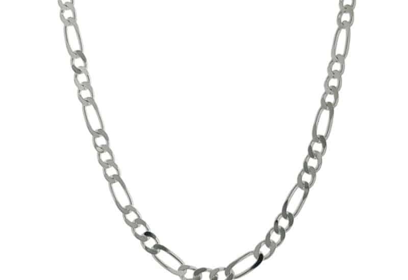 Cadena de plata cartier de 60 cms x 3 mm. de grosor