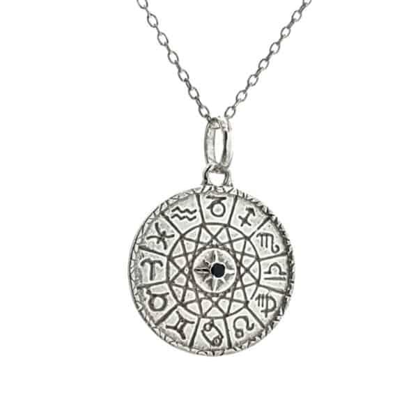 Colgante de los signos del zodiaco en plata