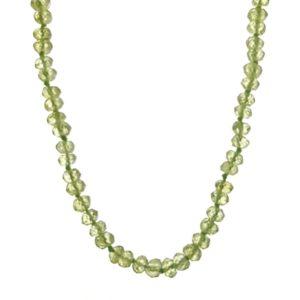 Collar piedras de olivino - pedidoto de 45 cms.