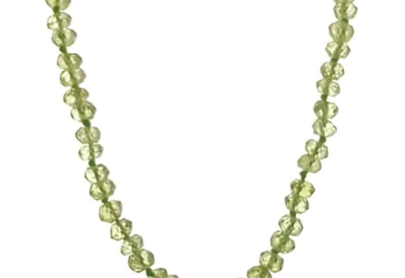 Collar piedras de olivino – pedidoto de 45 cms.