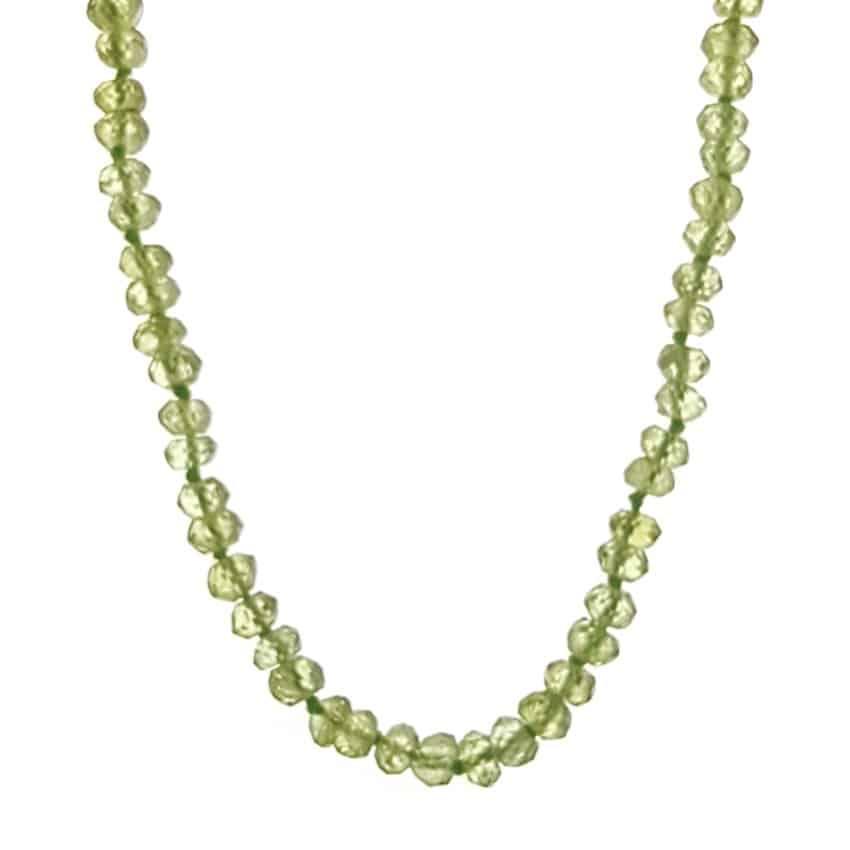 Collar piedras de olivino – peridoto