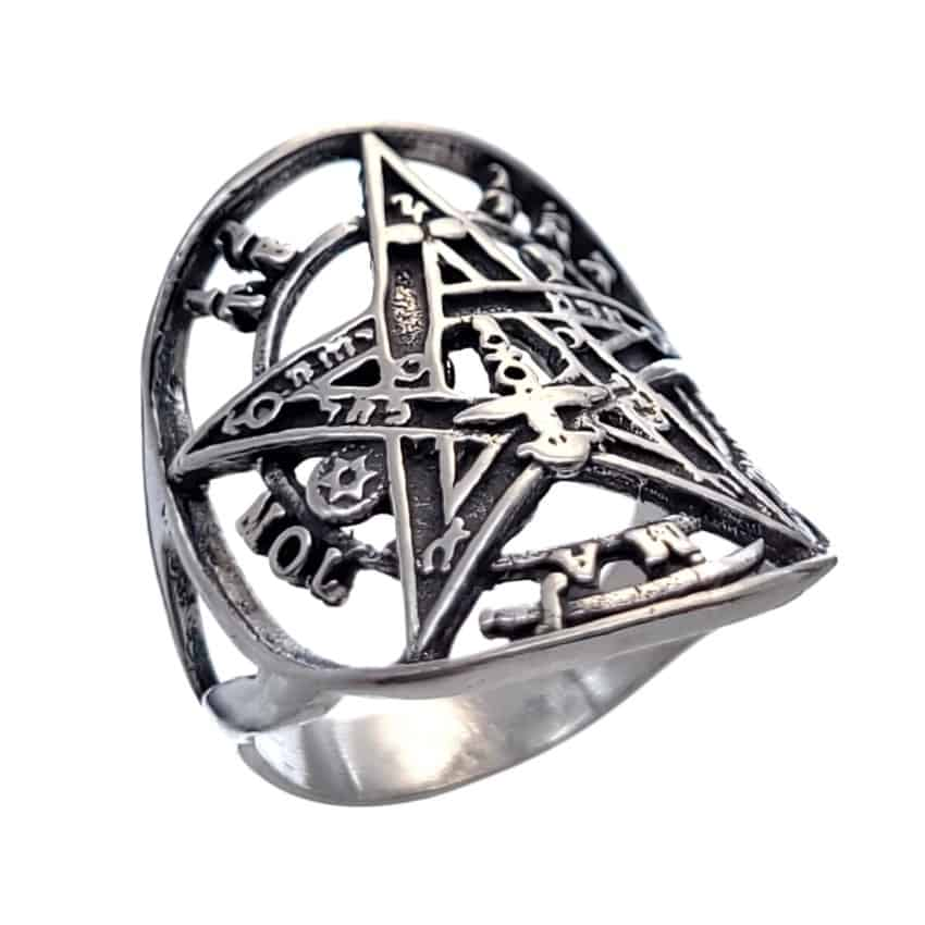 Anillo tetragramatón plata (3)