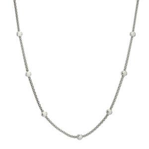 Cadena boule / coreana plata 925 de 45 cms.