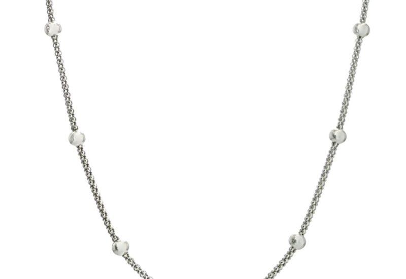 Cadena boule / coreana plata 925 de 40 cms.