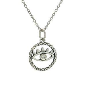 Colgante y gargantilla, símbolo de protección en plata.