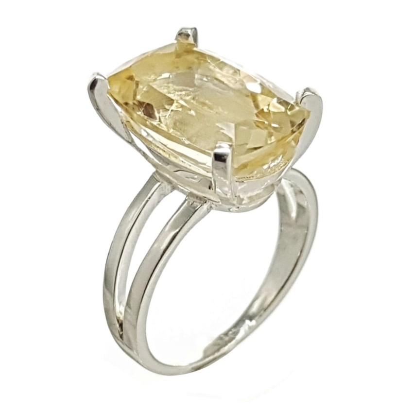 anillo citrino tallado en montura de plata (1)