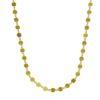 Collar adaptable choker de chapas de plata chapada en oro.