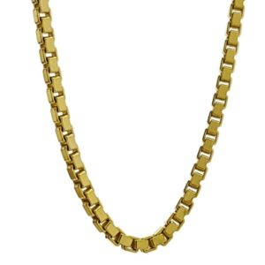 Cadena de 40 cms Veneciana en plata 925 grosor 3 mm. chapada en oro