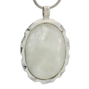 Colgante piedra luna oval en plata 925