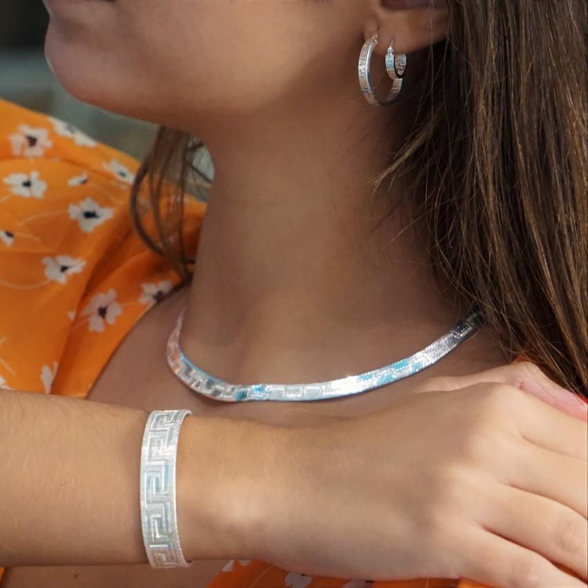 Joyas de plata con grabado en Greca.