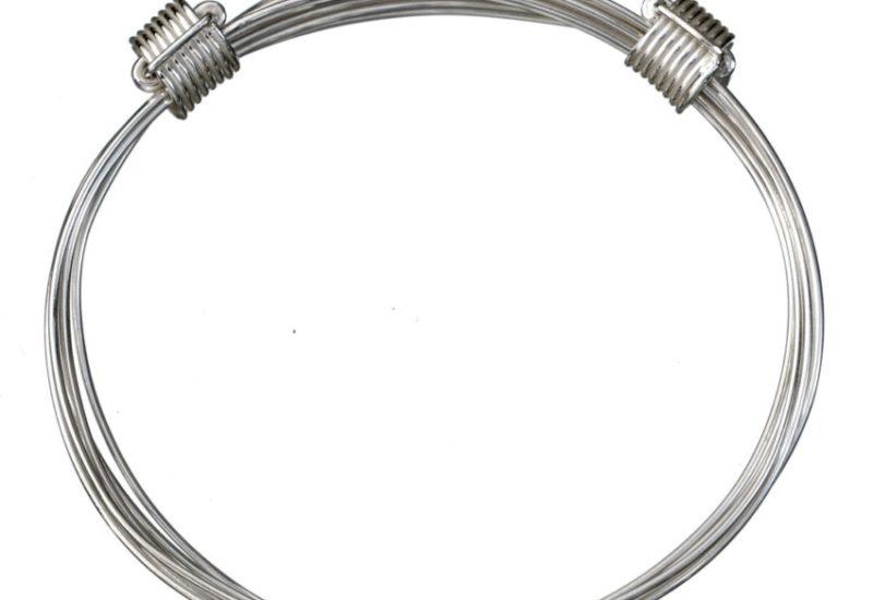 Pulsera africana nudos corredizos en hilo de plata 925