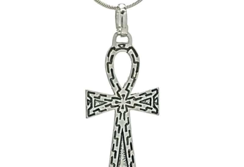 Colgante Cruz de la vida egipcia (Ankh) en plata 925