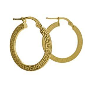Aros greca de plata 925 chapados en oro