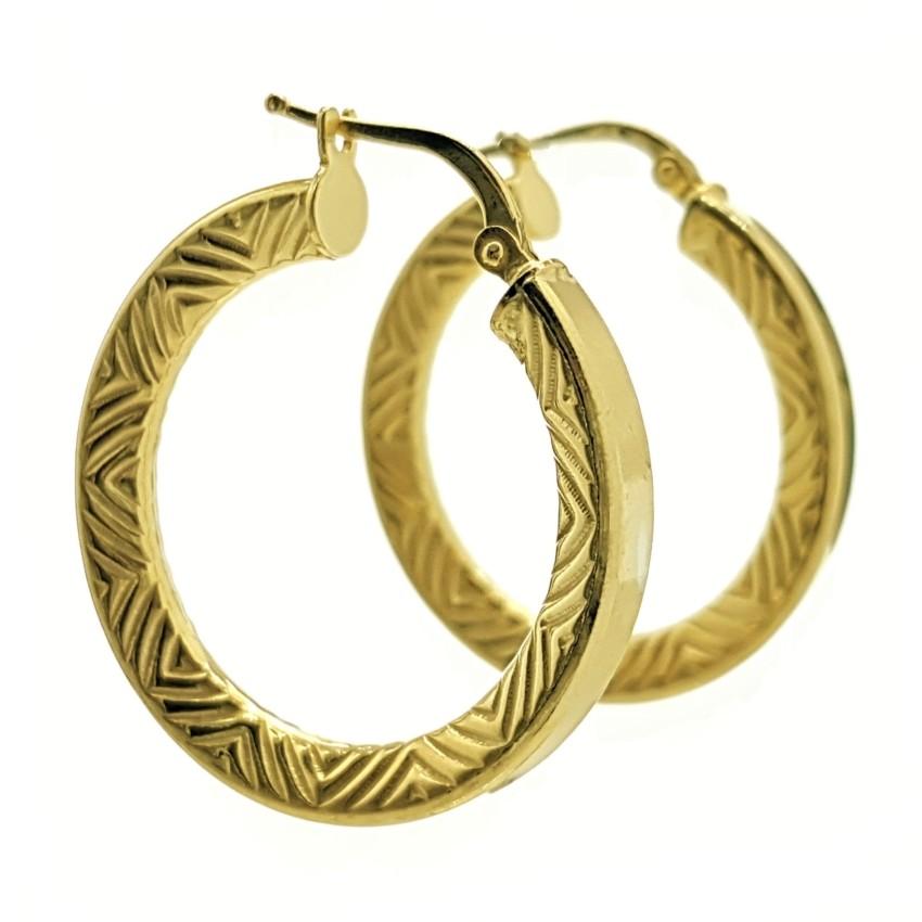 Aros plata chapados en oro modelo Inca (8)_LI