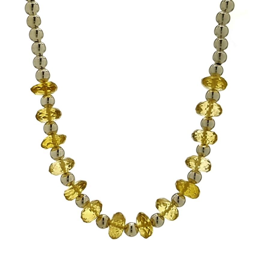 Collar de cuarzo citrino y bolas de plata 925 (1)