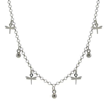 Gargantilla libélulas en plata 925