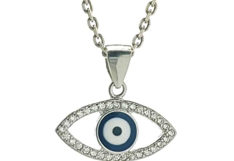 Colgante ojo turco con circonitas en plata 925