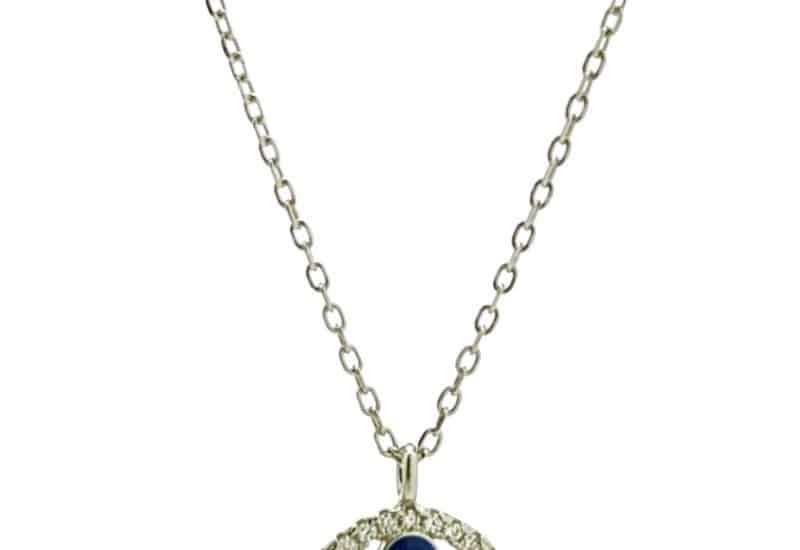 Gargantilla mini ojo turco con circonitas en plata 925