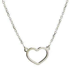 Gargantilla silueta corazón en plata 925