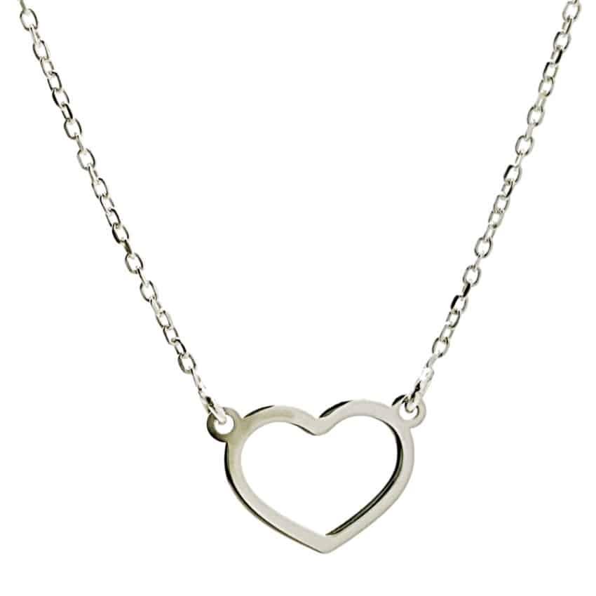 Gargantilla silueta corazón en plata 925 (2)