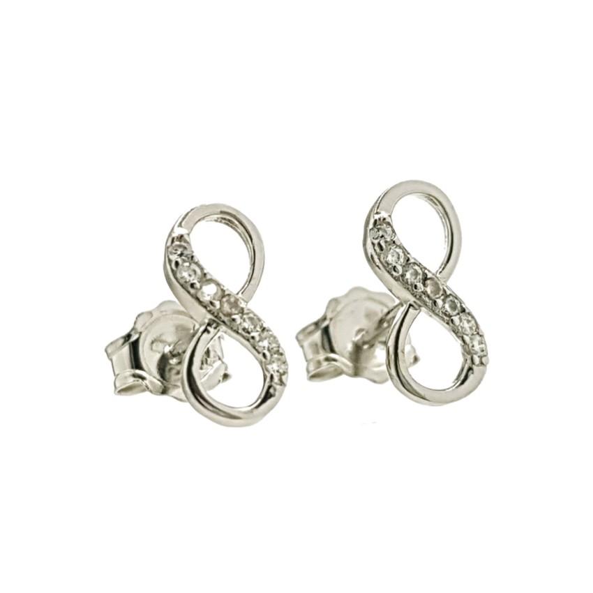 Pendientes infinito con circonitas fabricados en plata 925 (5)