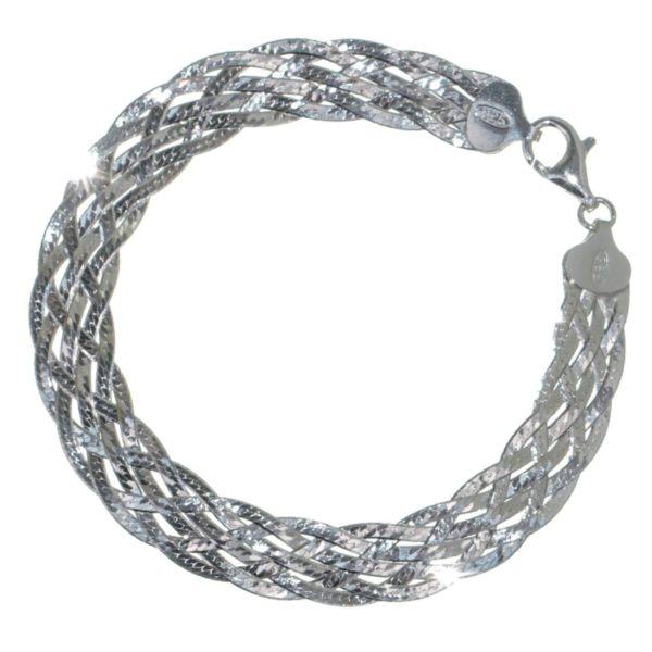 Pulsera 6 hilos trenzados en plata 926 (15)