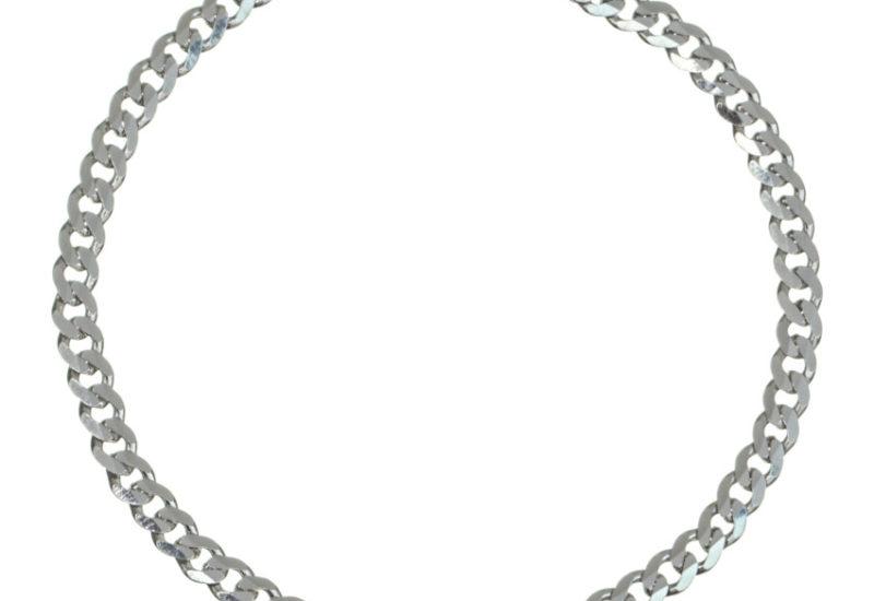 Pulsera Barbada fina de 18 cms x 3,6 mm. en plata 925
