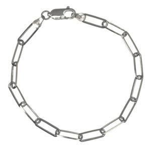 Pulsera rectángulos 19 cms de largo fabricado en plata 925