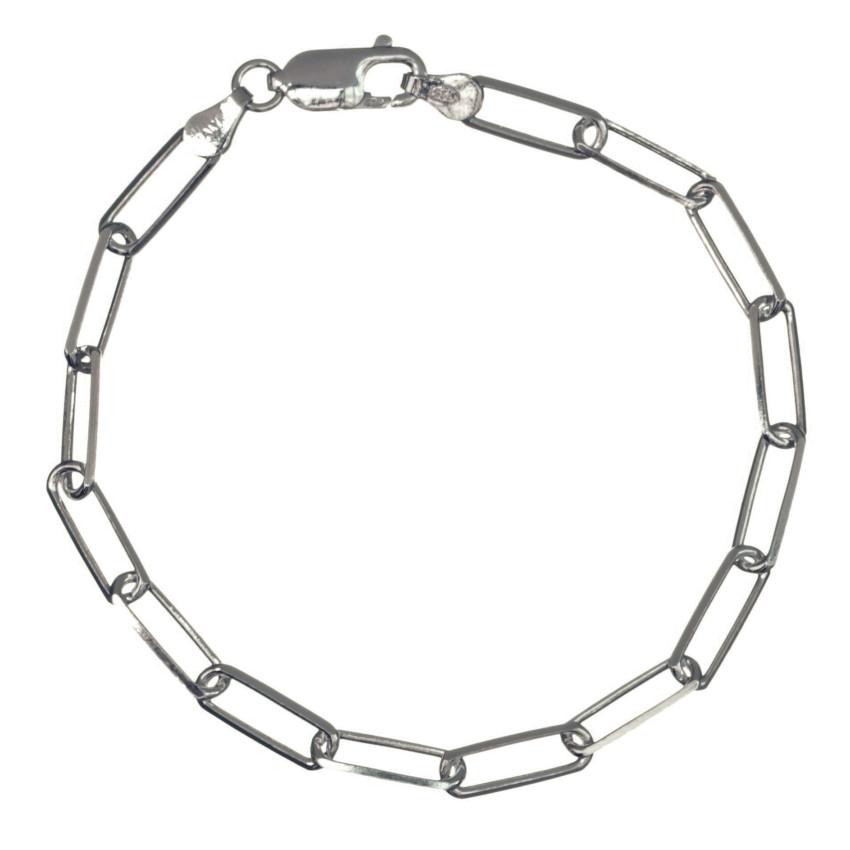 Pulsera rectángulos 19 cms de largo fabricado en plata 925 (1)