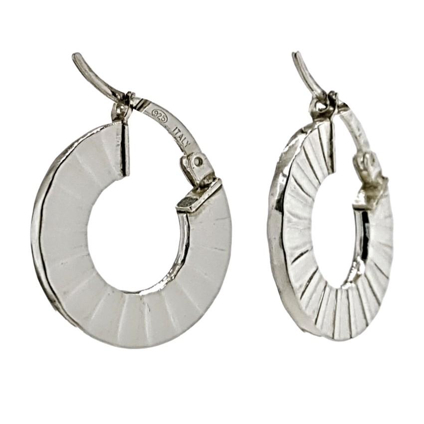 argollas plata 925 diseño en abanico 2