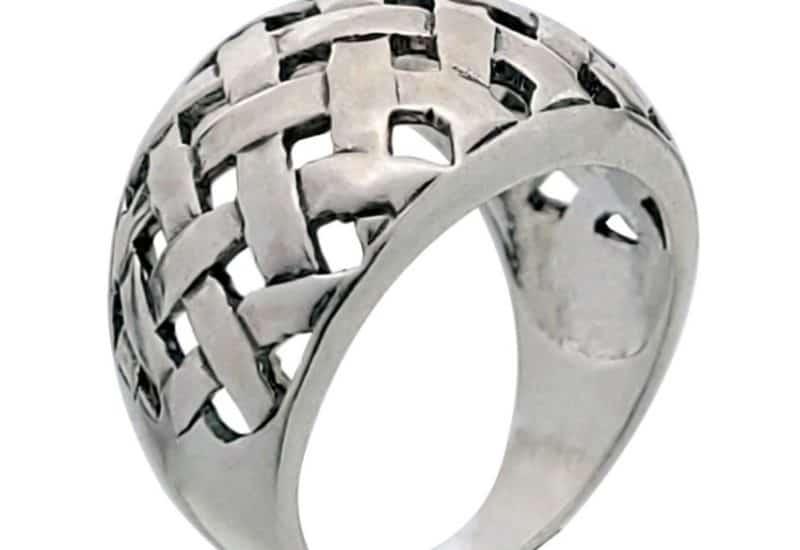 Anillo trenzado celta en plata 925